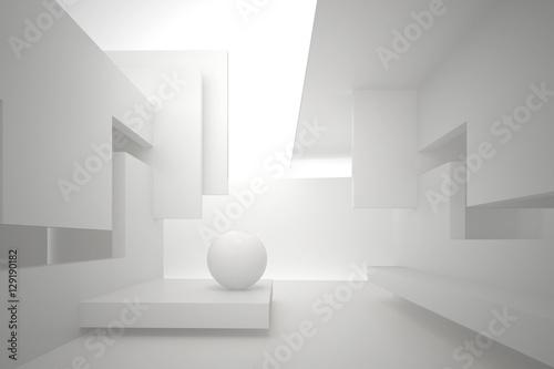3d-ilustracja-biale-wnetrze-nieistniejacego