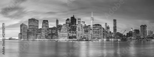 Night Lights of Famous Manhattan Skylines, New York