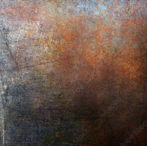 Rusted metal background Wall mural
