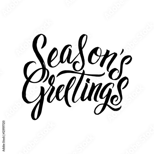 Fotografie, Obraz  Seasons Greetings Calligraphy
