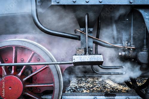 Parte di un treno a vapore Plakat