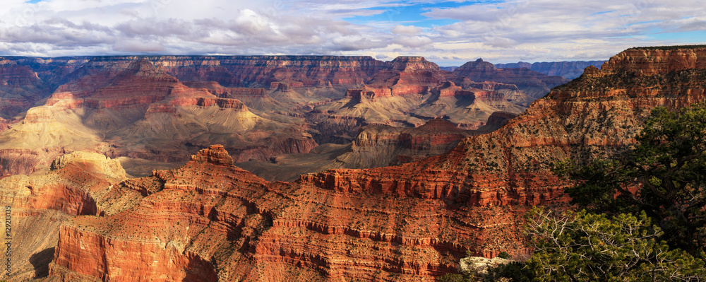Great Landscape from South Rim of Grand Canyon, Arizona, United