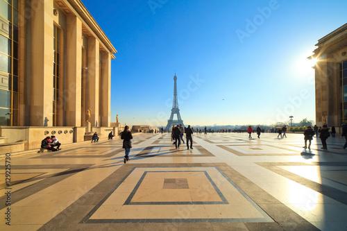Parvis des droits de l'homme, esplanade du Trocadéro, Paris