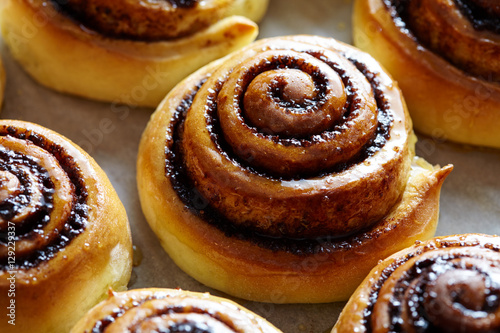 Swedish Christmas Bread.Sweet Rolls With Cinnamon And Cocoa Filling Cinnabon Roll Bread