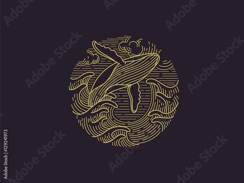 Fototapeta premium Logo wieloryba