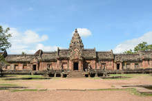 Prasat Hin Phanom Rung ,Buriram ,Thailand.Phanom Rung Historical Park Is Castle Rock Old Architecture About A Thousand Years Ago At Buriram Province,Thailand