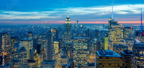 Keuken foto achterwand Seoel New York - DECEMBER 20, 2013: View of Lower Manhattan on Decembe