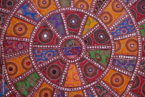 Fotografija Indian colorful tapestry with mirrors