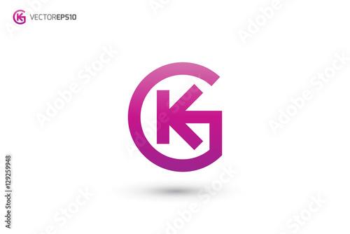 gk logo or kg logo buy this stock vector and explore similar rh stock adobe com gk logistics express g logo