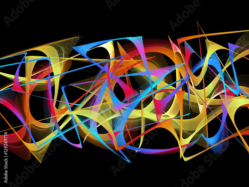 Foto op Canvas Graffiti abstract graffiti