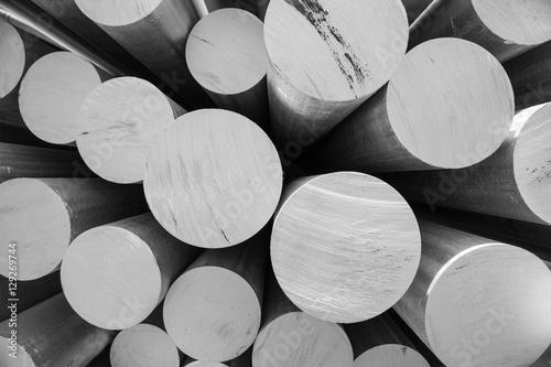 Fotografie, Obraz  aluminum metal raw material in the form of long tubes