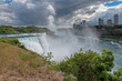 Niagara falls, with clouds and mist