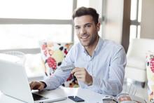 Man Preparing To Make Online P...