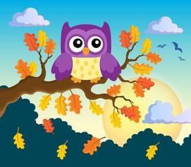 Autumn owl theme image 2