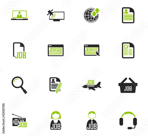 Valokuvatapetti Job icons set