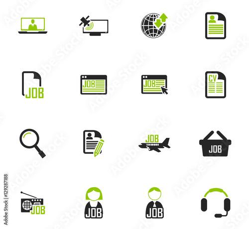 Valokuva  Job icons set