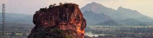 Fotografie, Obraz Sunset over the Lion Rock in Sigiriya, Sri Lanka