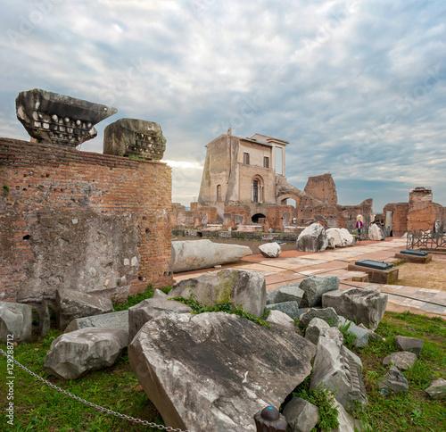 Fototapeta  Roma, Palatino Ninfeo ellittico della Domus Flavia