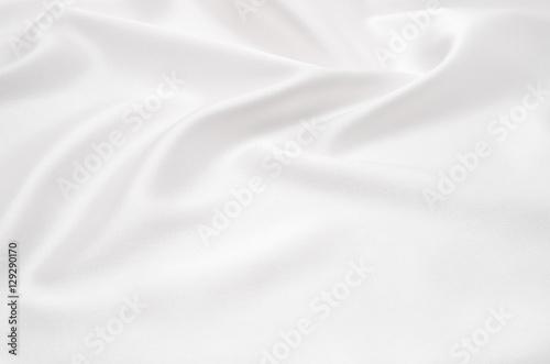 Tuinposter Stof white satin fabric as background