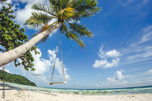Staande foto Tropical strand Sao beach on Phu Quoc island. Tropical holidays background.