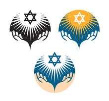 Star Of David Icons. Hanukkah Symbol