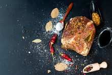 Meat Marinated In Salt And Spices