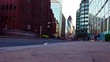 London street time-lapse traffic and city buildings