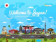 Welcome To Japan Poster With F...