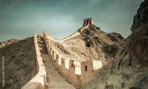 Jiayuguan Great Wall of Ming Dynasty, Gansu China.