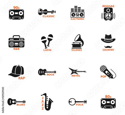 Photo musical genre web icons