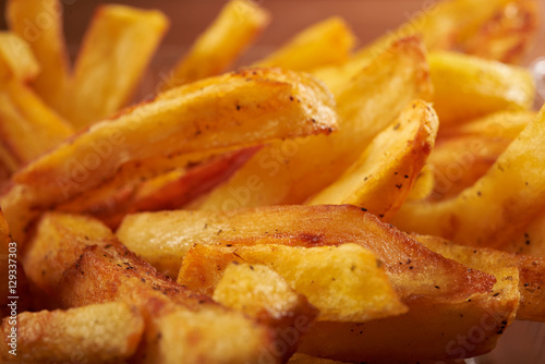 Photo  fried French fries close up