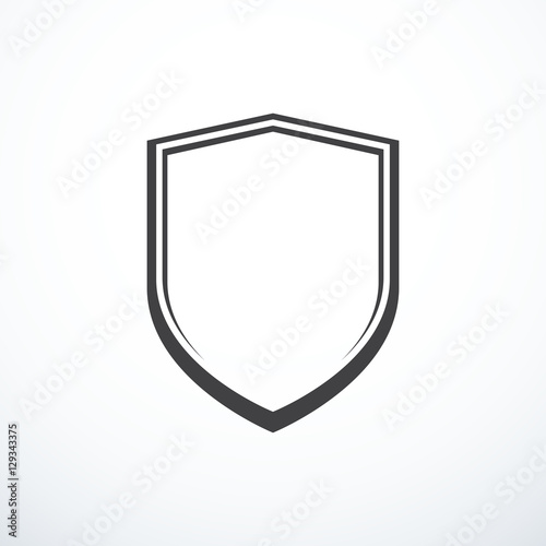 Valokuvatapetti Vector shield icon