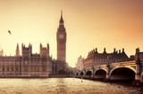 Fototapeta Big Ben - Big Ben and Westminster at sunset, London, UK