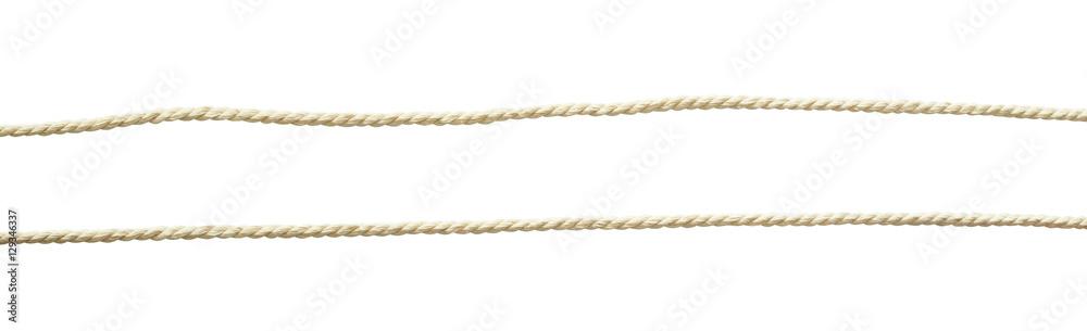 Fototapety, obrazy: Set of white cotton ropes