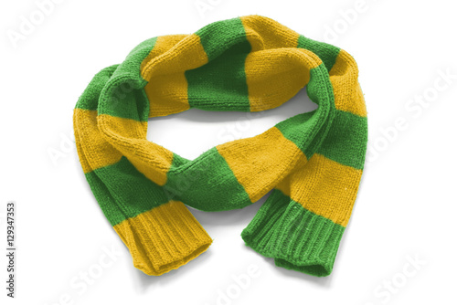 cfc464b9df615 Striped warm scarf on a white background - Buy this stock photo and ...