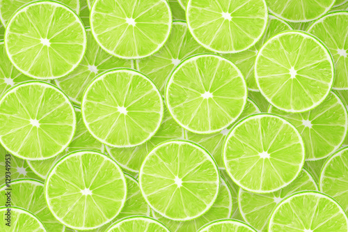 Background of lime sliced pieces Wallpaper Mural