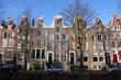 Maisons à pignon sur les quais d'Amsterdam, Pays-Bas