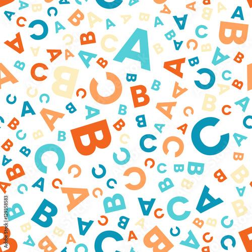 Bezszwowy wektoru wzór - różne litery ABC