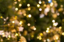 Christmas Tree Bokeh Light In ...