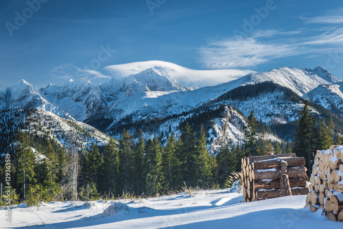 Tatra Mountains view from Rusinowa Polana
