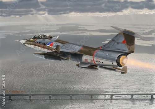 Photo KLU F104 afterburner
