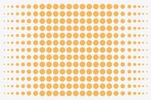 Background - Orange Dots, Isolated On White
