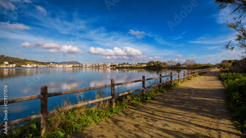 Bacoli (Naples, Italy) - Miseno Lake in a winter day Canvas Print