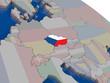 Czech republic with flag