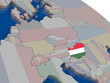 Hungary with flag