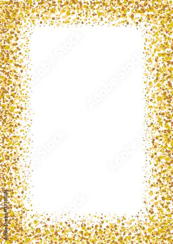 Golden glitter frame a4 a3 format size. Glittering sparkle shinny ...