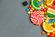 Colorful Candies And Lollipops...