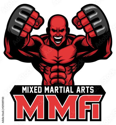 Carta da parati MMA fighter mascot