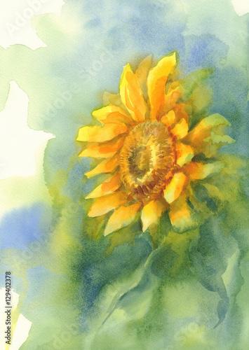 Plakaty żółty słonecznik