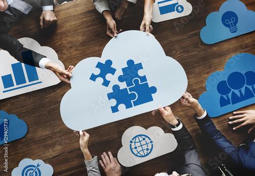 Photo  Cloud Words Business Graphic Concept